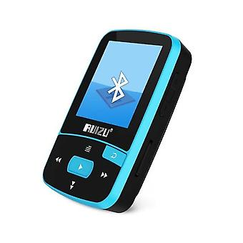 Bluetooth MP3 Player 8gb Clip with ScreenFM(Blue)