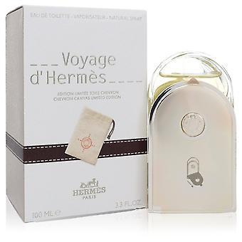 Voyage D'Hermes by Hermes Eau De Toilette Spray with Pouch (Unisex) 3.3 oz