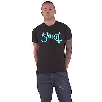 Ghost Blue Keyline Logo Official Mens New Black T Shirt