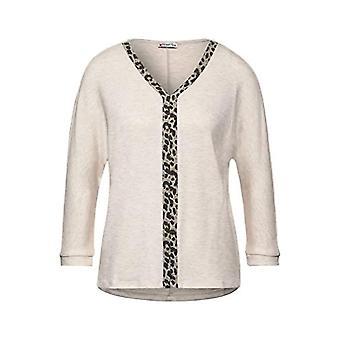 Street One Style Ellen T-Shirt, Savannah Sand Melange, 48 Woman