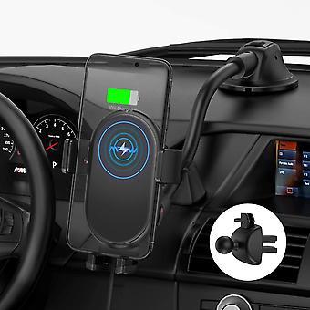FengChun Caricatore Wireless Auto, Auto-Bloccaggio Qi Caricabatterie Ricarica Rapida