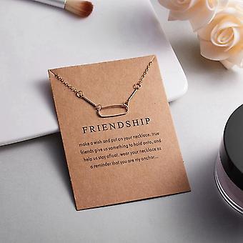 Collar de amistad con óvalo 18K oro chapado en oro regalo amistad