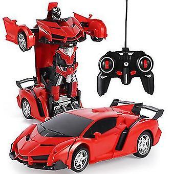 Rote Fernbedienung Verformung Roboter Polizei Auto Fernbedienung Spielzeug Kinder aufladen Spielzeug az6759