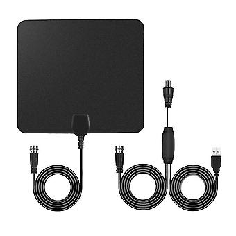 For 75Ohm USB Indoor Digital TV Antenna 50 Miles Range Signal 1080P Amplified HDTV WS34243