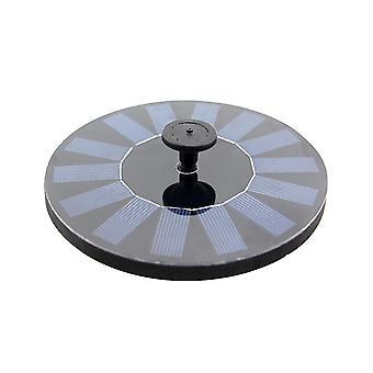 シルバー cf002 6v 0.8w 150l/h 太陽光発電浮遊水ポンプ噴水水没可能ポンプ プール庭の植物 (黒) dt3907