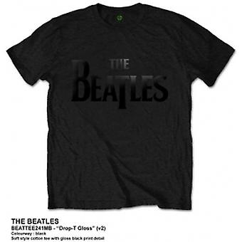 Die Beatles Drop T schwarz Logo T Shirt: klein