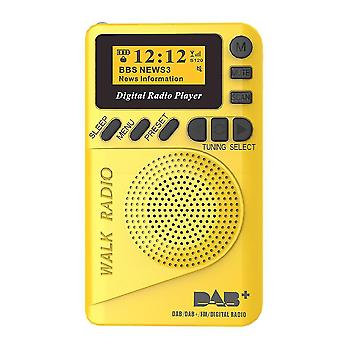 DAB+ Digitální FM 174240MHz Rádio LCD displej SD Karta Reproduktor Hudba MP3 Přehrávač Reproduktor