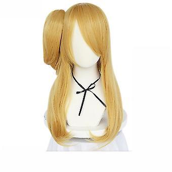 Rozprávkový chvost Anime Wag Cap Lucy Single Ponytail Syntetické vlasy parochne Golden