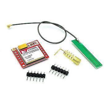 100Pcs smallest sim800l gprs gsm module microsim card core wireless board quad-band ttl serial port with antenna for arduino