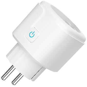 Wifi Smart Plug Eu Socket Tuya Smart Life App Work Voice Control Power Monitor