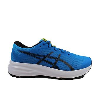 Asics Patriot 12 GS Directoire Blue/Black Mesh Childrens Lace Up Running Trainers