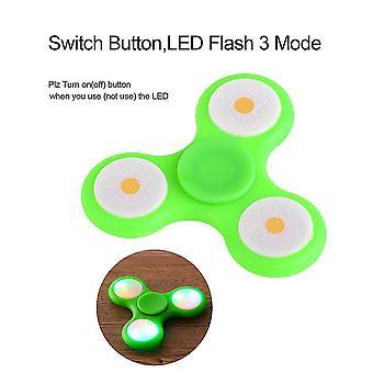 Led Light Flash Hand Spinner Giocattoli Finger Tri-spinner Giocattoli Regalo per bambini / adulti