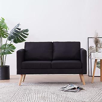 vidaXL 2 siège canapé tissu noir