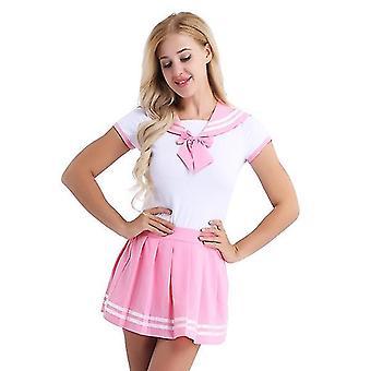 Schule Sailor Uniform, japanische Anime Erwachsene karierten Rock Set