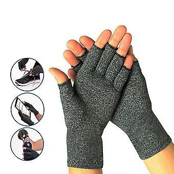 1 Par Kompression Arthritis Handsker Smertelindring (L)