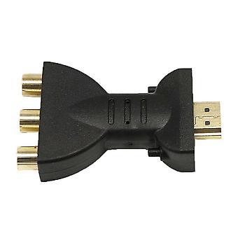 Hoge kwaliteit vergulde HDMI-compatibel met 3 RGB RCA Video Audio Adapter AV Component Converter