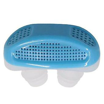 (Blue) Anti Stop Snoring Air Purifer Snore Free Silicone Snore Stopper Sleep Device