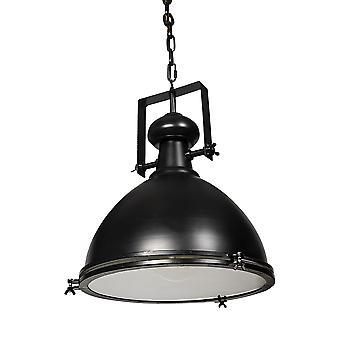 Industrial Black Metal Hanging Pendant Light