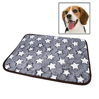 Pet Double-sided Mat Vine Cushion Kennel Cat Blanket Mat, Specification: XL(Grey Star)