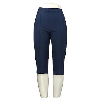 Isaac Mizrahi En direct! Pantalon pour femmes Poussoirs à pédales Pintucks Bleu A377472
