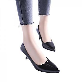 Versatile High-heeled Shoes With Pointed Toes And Shallow Mouth Work Shoes