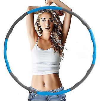 Peso pieghevole hula cerchio fitness mat esercizio palestra esercizio hula cerchio, blu e grigio