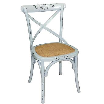 Lucy Retro Vintage Style Blue Wooden Dining Kitchen Chair Fully Assembled