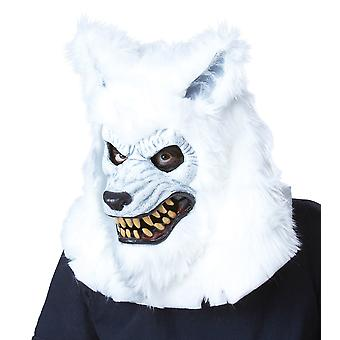 White Lycan Werewolf Ani-Motion Mask deluxe Overhead Mask
