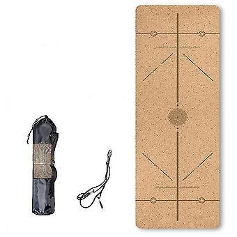 Skandinaavinen tyyli ympäristöystävällinen luonnollinen korkki tpe jooga matto kuntoiluun ja harjoitteluun(Db04)
