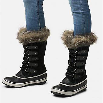 Sorel Joan Of Arctic Ladies Suede Waterproof Boots Black/quarry