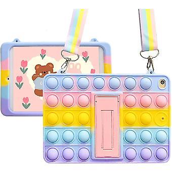 Tryck pop fidget leksaker skyddande tablettskydd Ipad Mini 4 5 fodral