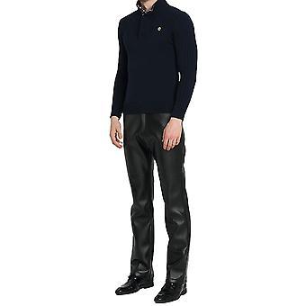 Mile Mens Business Casual Straight Leg Pu Faux Leather Biker Pants