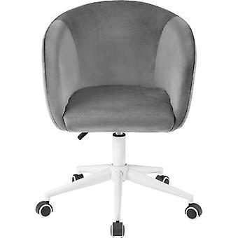Chaise de bureau en velours avec coussin luxueux pour les bras