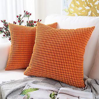 Sztruksowa miękka kwadratowa poszewka na poduszkę Pomarańczowe cząstki