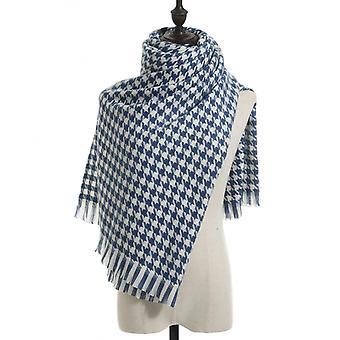Vinterull scarf sjal för kvinnor lång stor tjock varm vändbara halsdukar