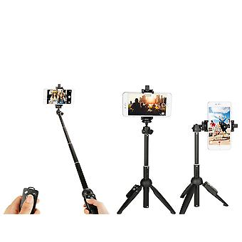 Portable Bluetooth Selfie Stick With Tripod Extendable Foldable Monopod For Iphone 11 X Huawei Xiaomi Action Camera