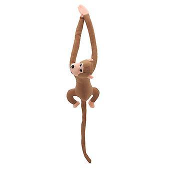 60cm Langer Arm Schwanz Affe gefüllt mit Puppe Plüsch Vorhang Baby Schlafendes Tier Spielzeug Auto Ornament