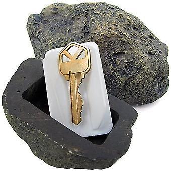 Verstecken Ersatzschlüssel Fake Rock Grau Camouflage Stein Safe für Garten Hof