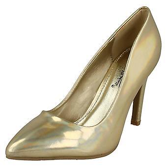 Corte de Anne Michelle metálico de las señoras zapatos de F9948