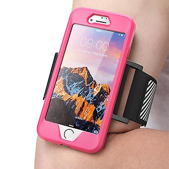iPhone 7 Armband, SUPCASE, Easy Fitting Sport Running Armband with Premium Flexible Case Combo-Pink