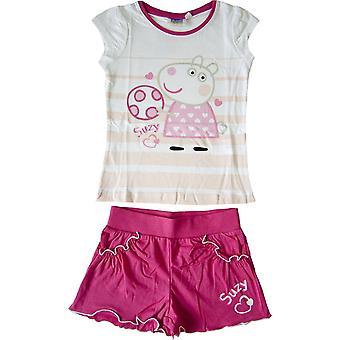Mädchen Peppa Pig Set T-shirt & Shorts Set