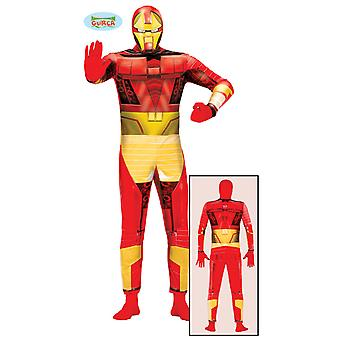 Super fer héros mens jumpsuit costume Bionic