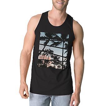 Palm Trees California Sunset Photography Mens Sleeveless Tee Shirt