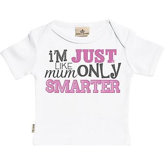 Spoilt Rotten Smarter Than Mum Short Sleeve Baby T-Shirt
