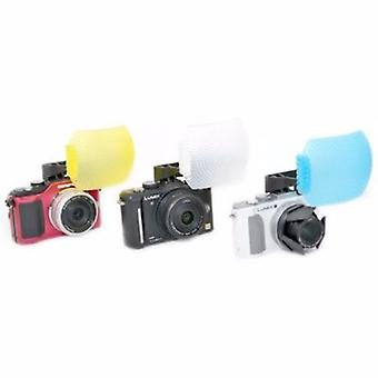 JJC bianco/blu/giallo pop-up Flash diffusore per Olympus Pen E-P3, E-PL1, E-PL2