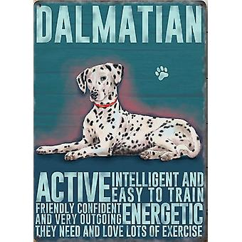 Medium Wall Plaque 200mm x 150mm - Dalmation by The Original Metal Sign Co