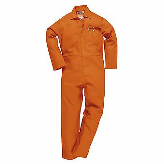 Portwest - CE Safe-Welder Workwear Coverall Boilersuit Orange Medium