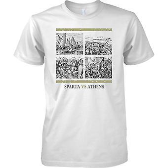 Sparta vs Athens-Ancient Rivals-Miesten T-paita