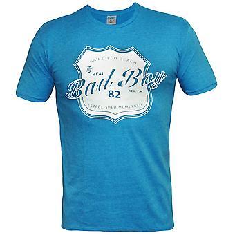 Bad Boy riktiga Shield T-Shirt-Heather blå