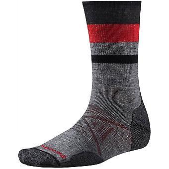 SmartWool PhD® Outdoor-mittlere Pattern Crew Socke - mittleres Grau